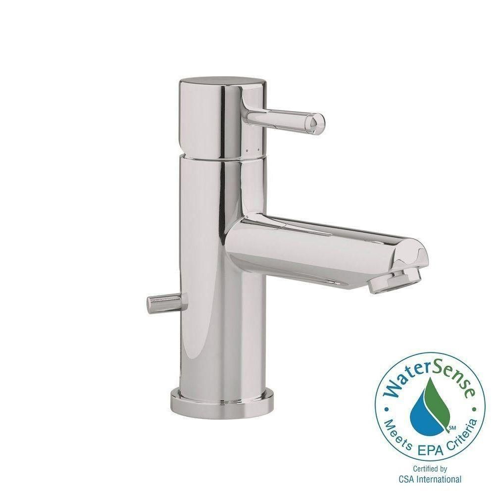 American Standard Serin Single Hole Single Handle Low Arc Bathroom Faucet With Speed Connect Drain In Brush