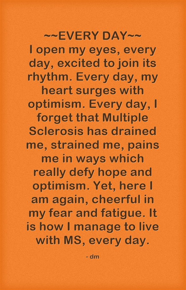 yup Everyday ... Multiple Sclerosis #Awareness | Multiple ...