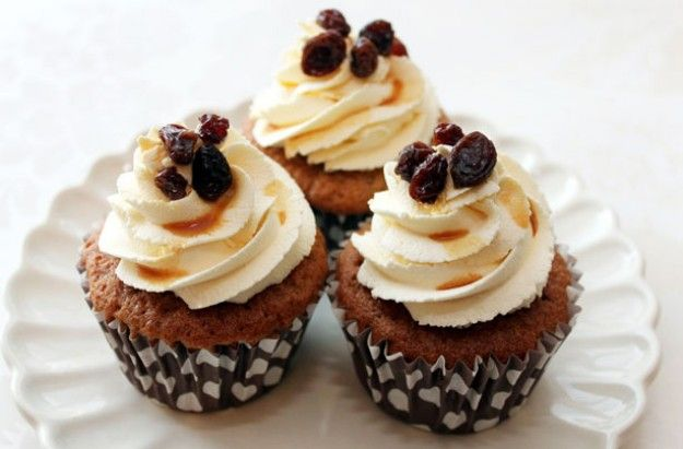 Rum And Raisin Cupcakes Recipe Cupcake Recipes Rum Raisin