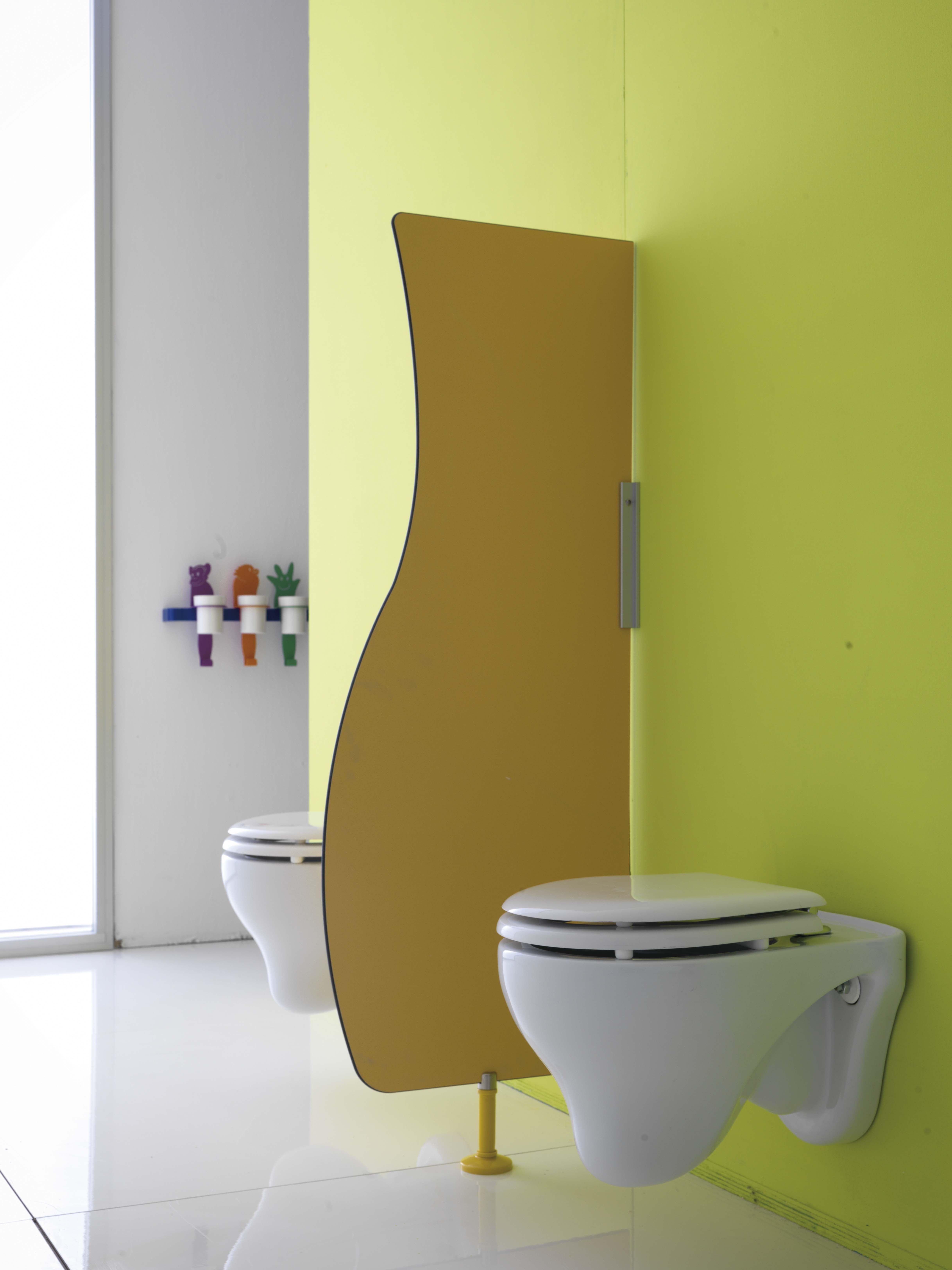 Parete #divisoria #bagno #scuola | Collezione Bagno Cucciolo ...