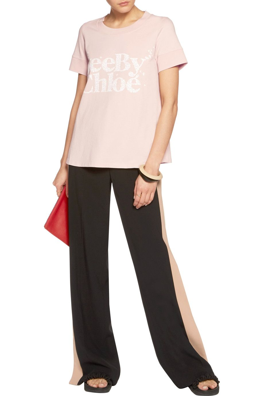 03ccc77f Shop on-sale See by Chloé Printed cotton-jersey T-shirt. Browse ...