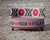 Ertak Sofa. Unique piece. Wool + Suzani Applications