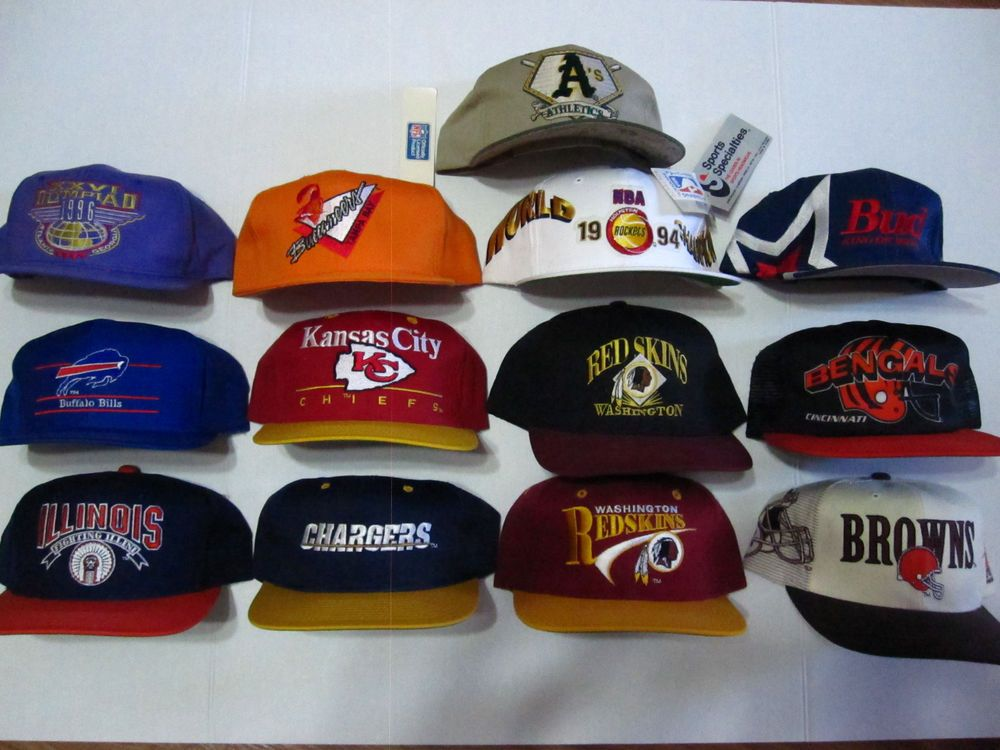 ce3a04d02 vintage 90 s snapback lot of 13 sports speciaties starter nfl pro player  hats