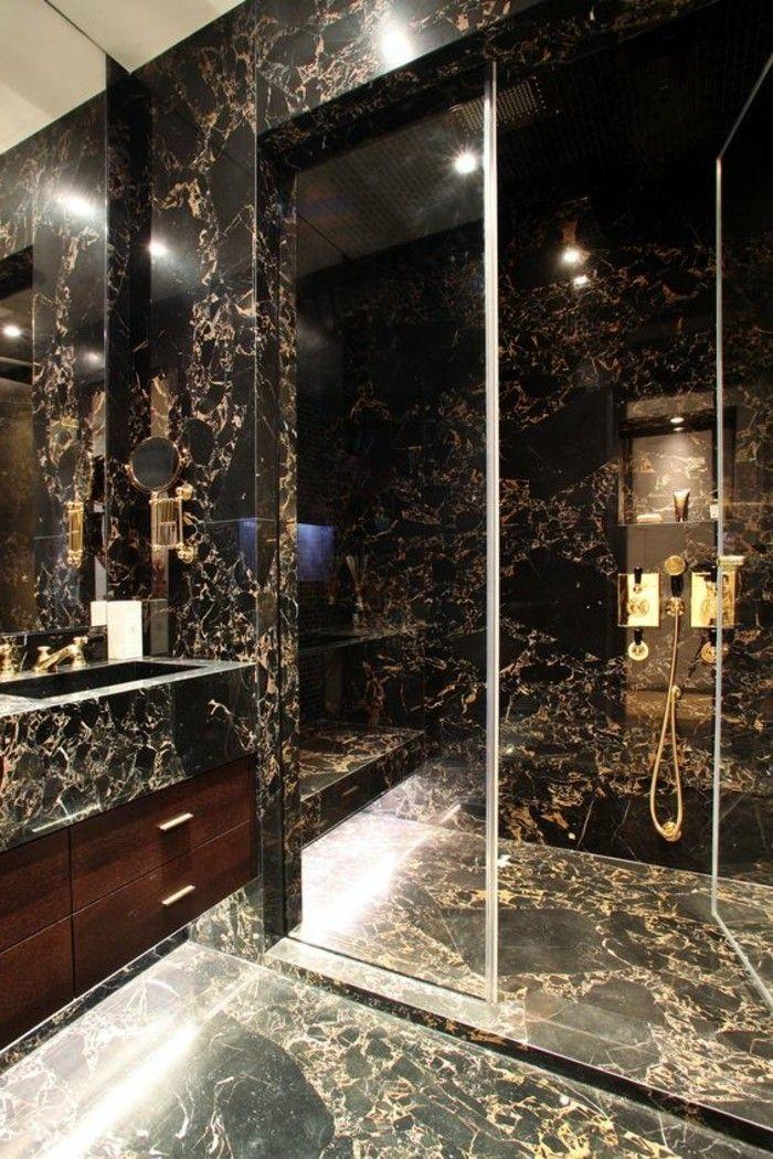 Badgestaltung Ideen Schone Bader Badezimmer In Schwarz Duschkabine
