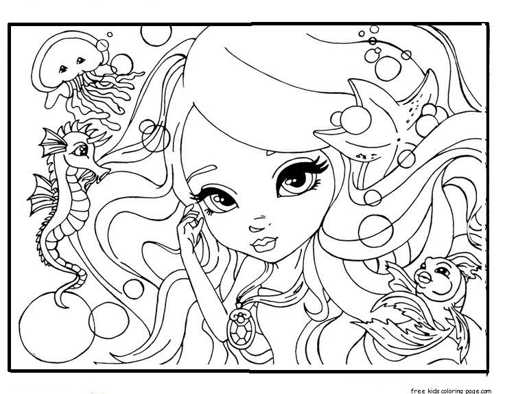 face barbie coloring pages for girlsFree Printable Coloring Pages