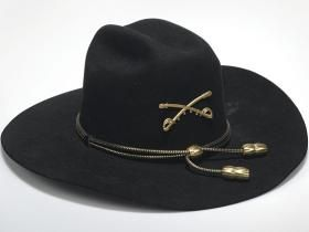 520a841f5 Black felt Stetson cavalry hat worn by Robert Duvall in his Academy ...
