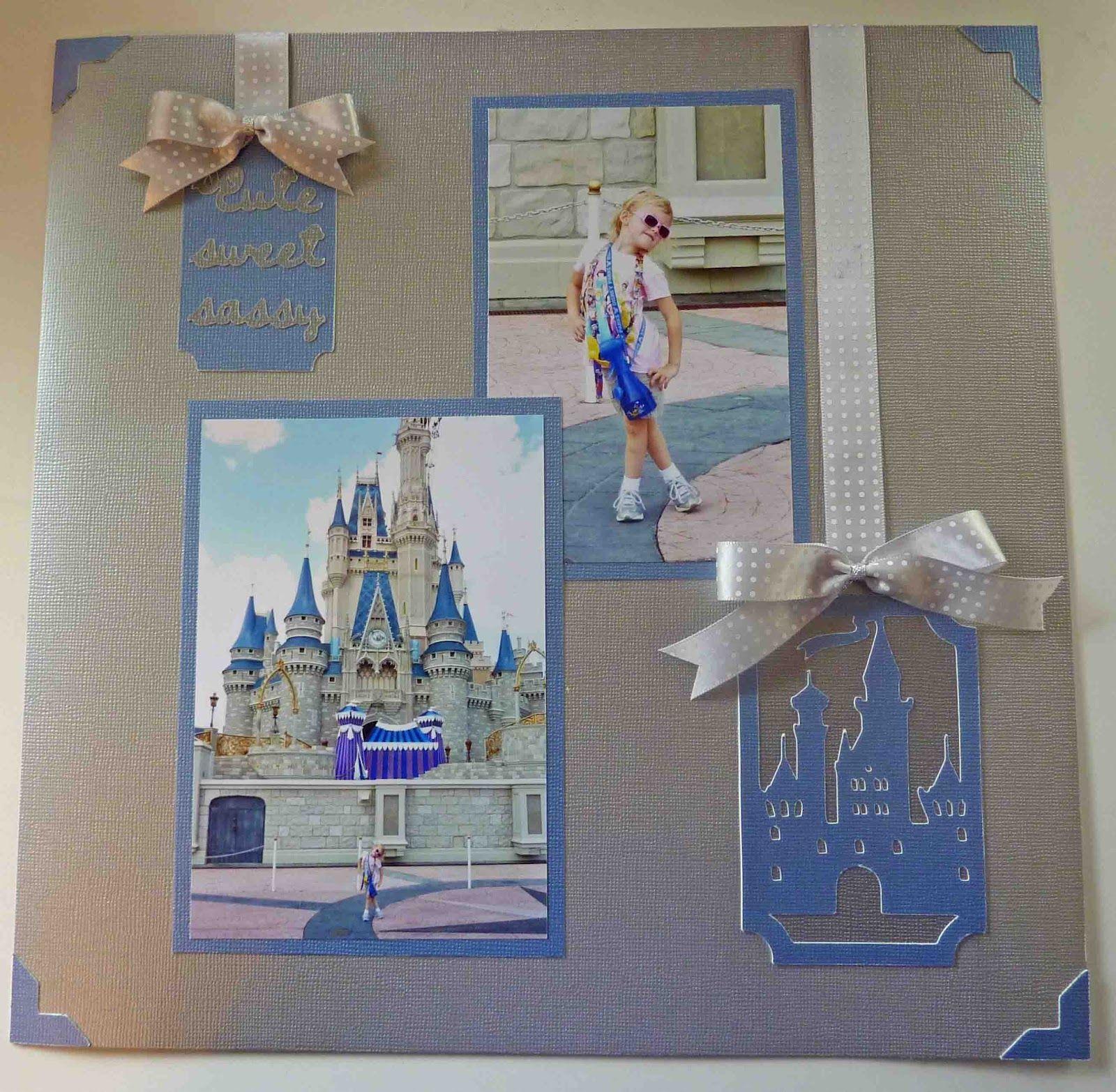 Wedding scrapbook ideas using cricut - Cinderella S Castle Layout Using Wrap It Up Cricut Cartridge Wedding Scrapbookdisney