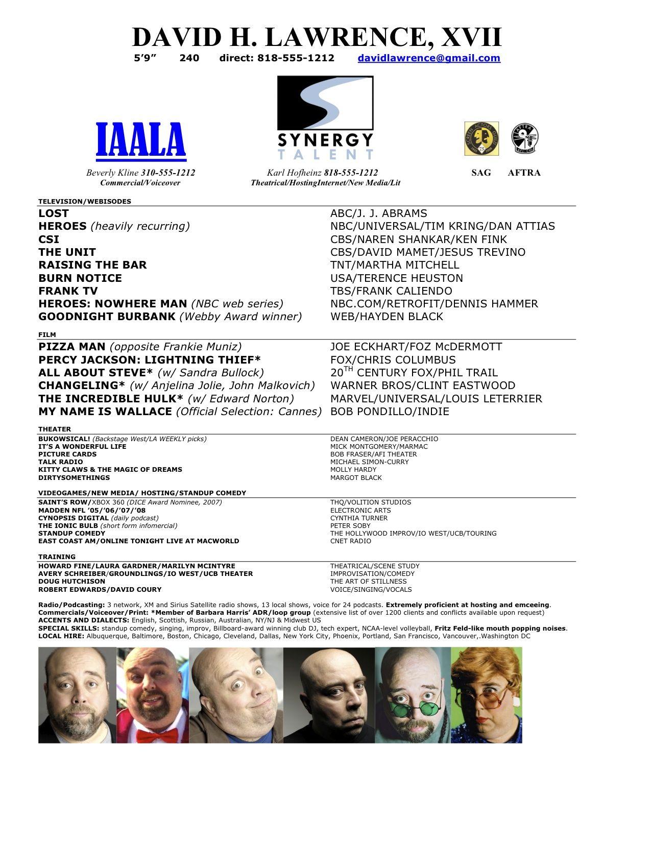 Commercial acting resume sample httpwwwresumecareer