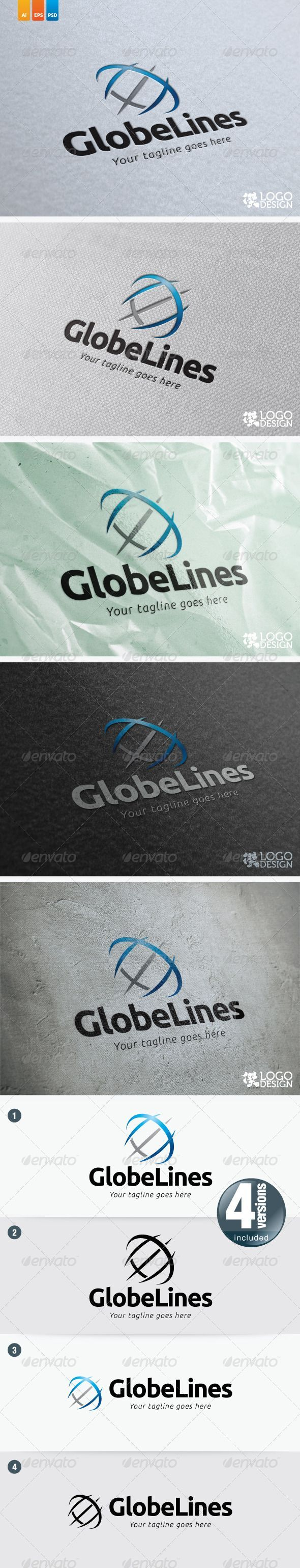 Globe Lines This logo perfectly use for marketing business investment related businesses internet apps financial planning bu