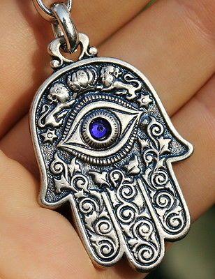 Hamsa Hand พวงกุญแจสัญลักษณ์ยิว Charm Amulet, Kabbalah & อุปกรณ์ป้องกันตาชั่วร้าย | หัตถ์ฮัมซา สัญลักษณ์ของชาวยิว ฮัมซา