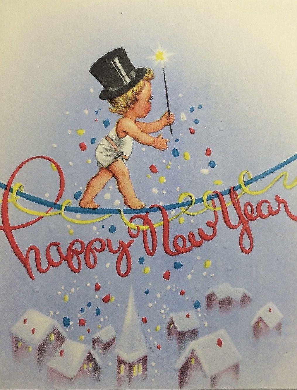 Картинки по запросу Happy New Year cards retro