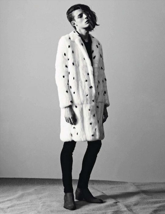 "Saint Laurent brings back some ""101 Dalmatians"" memories with this spotted fur coat"