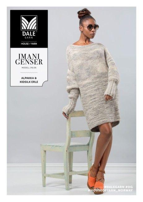 Dg341 08 Imani Genser Dale Garn Knit Dress Pinterest