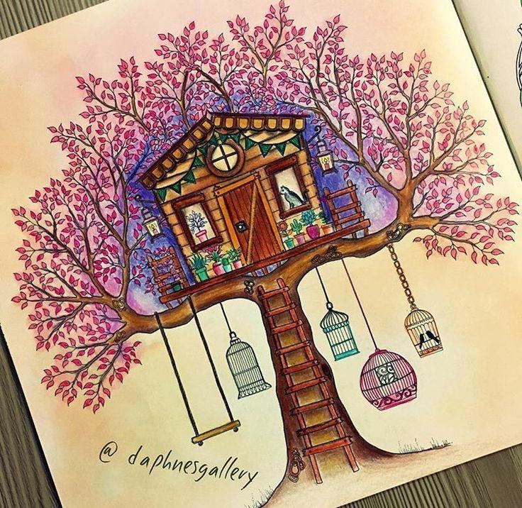 Treehouse in the secret garden. Treehouse Secret Garden