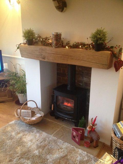 Plaster And Paint Sides Brick Back Log Burner Living Room Victorian Living Room Cosy Living Room