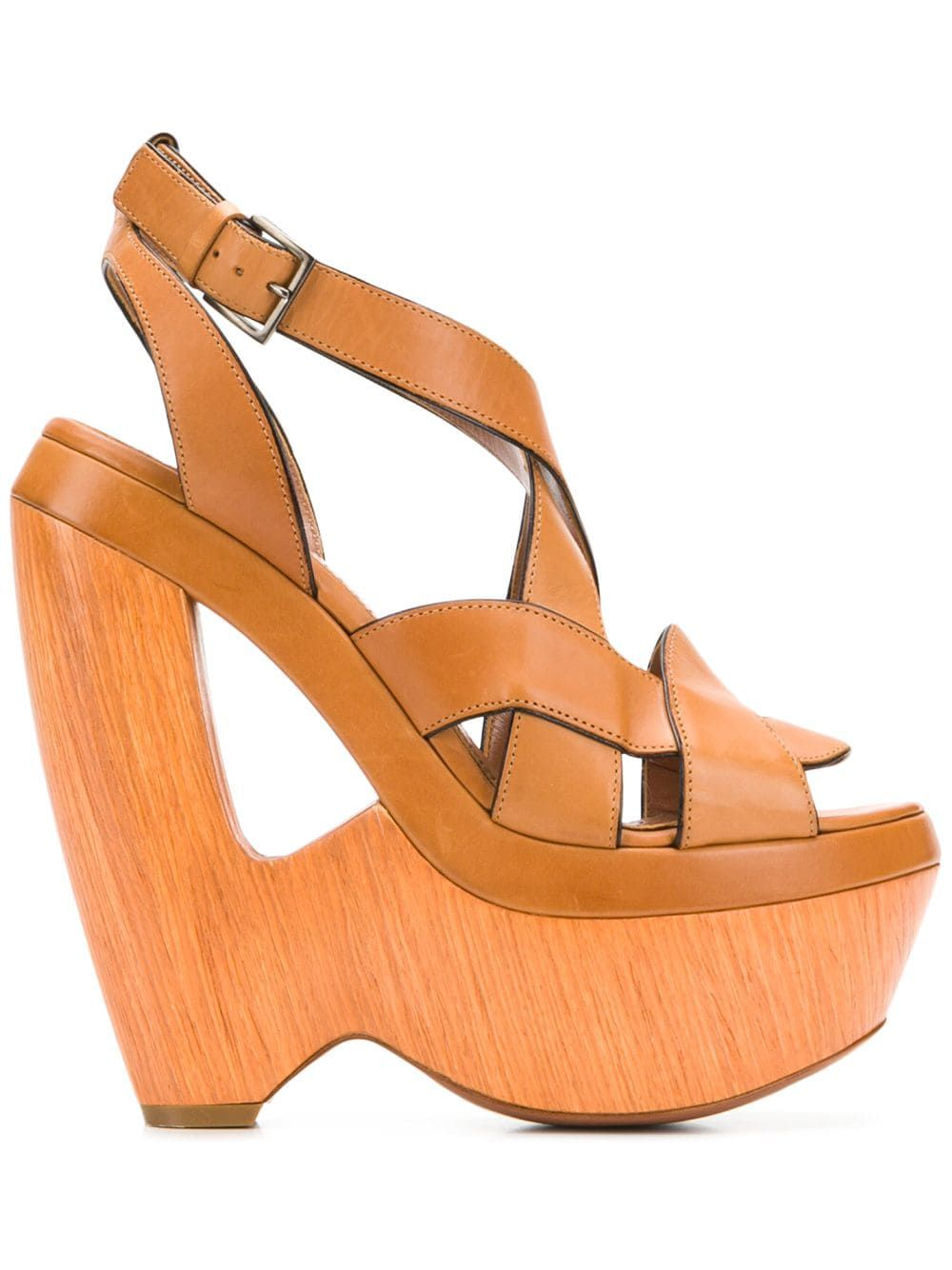 Alaia Pre Owned 2000 S Cutout Wedge Sandals Farfetch In 2020 Brown Wedge Sandals Wedge Sandals Wedges