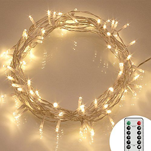 Remote and timer 40 led outdoor fairy lights 8 modes https remote timer 40 led outdoor fairy lights 8 modes battery operated string lights hours of lighting waterproof warm white aloadofball Images