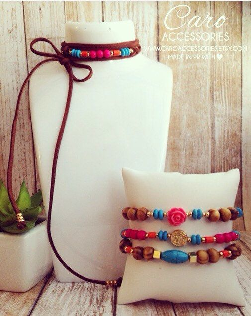 Arm candy caribe brillante. Set 3 pulseras. by CaroAccessories