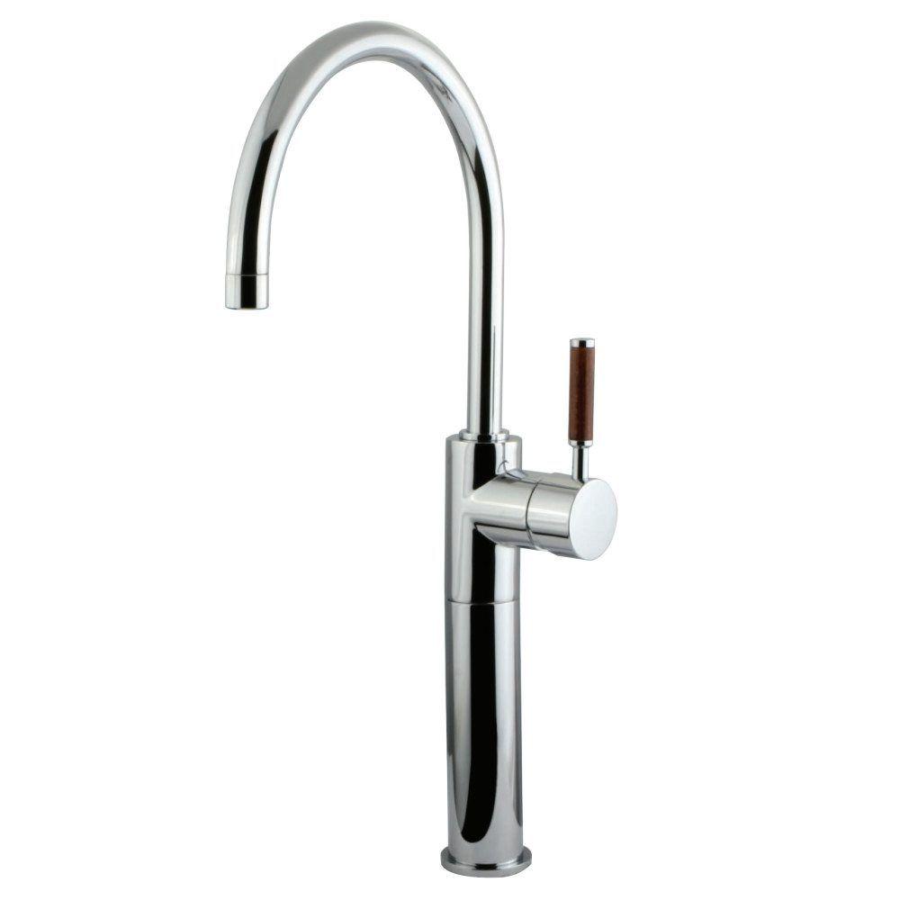 KS8031DWL Single Handle Vessel Sink Faucet without Pop-Up, Chrome ...