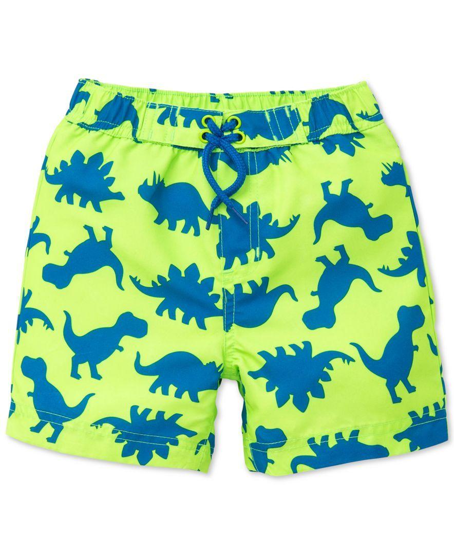 81f9cbe7a0 Little Me Dino-Print Swim Trunks, Baby Boys | Levi's cloths | Swim ...