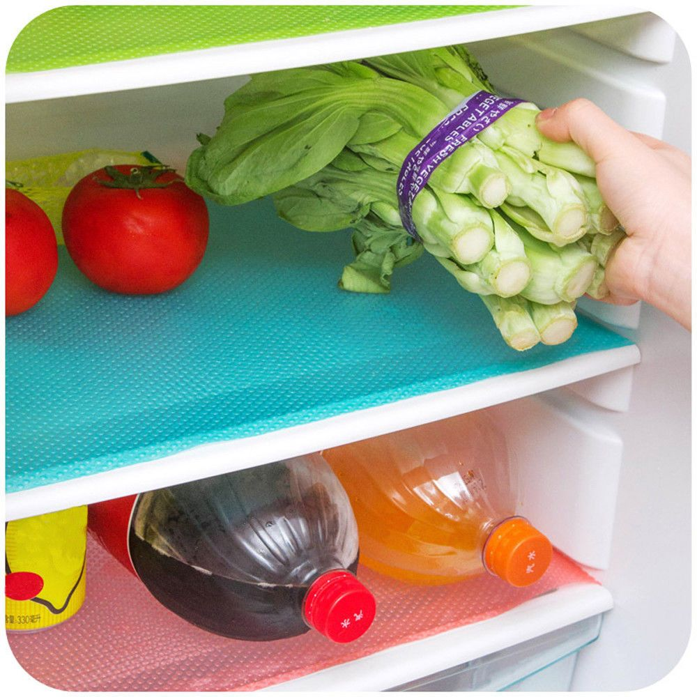 4PCS Multifunction Waterproof Refrigerator Antibacterial Antifouling Pad Mat EVA