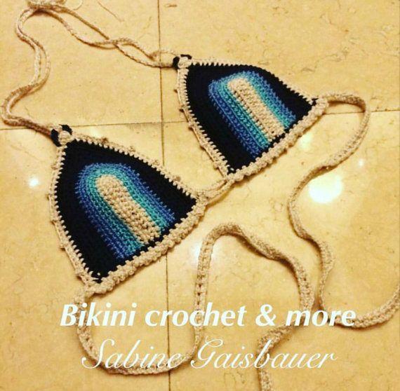 Sieh dir dieses Produkt an in meinem Etsy-Shop https://www.etsy.com/de/listing/503415177/hakelbikini-crochet-bikini-top-elastic