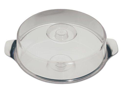 chg 14004-07 Obstkuchen-Platte aus Edelstahl-rostfrei mit extra flacher Klarsichthaube, 30 x 7 cm - http://geschirrkaufen.online/chg/chg-14004-07-obstkuchen-platte-aus-edelstahl-mit-x