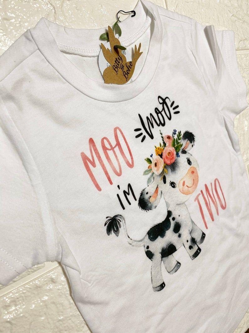 Girl Farm Shirt Cow Girl Shirt Farm Animal Shirt Girl Cow Shirt Cow Birthday Shirt Girls Cow Shirt Floral Cow Shirt