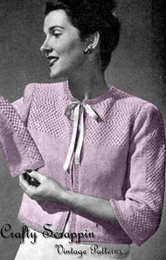 Vintage Bed Jacket Pattern Vintage Bed Jackets Pinterest