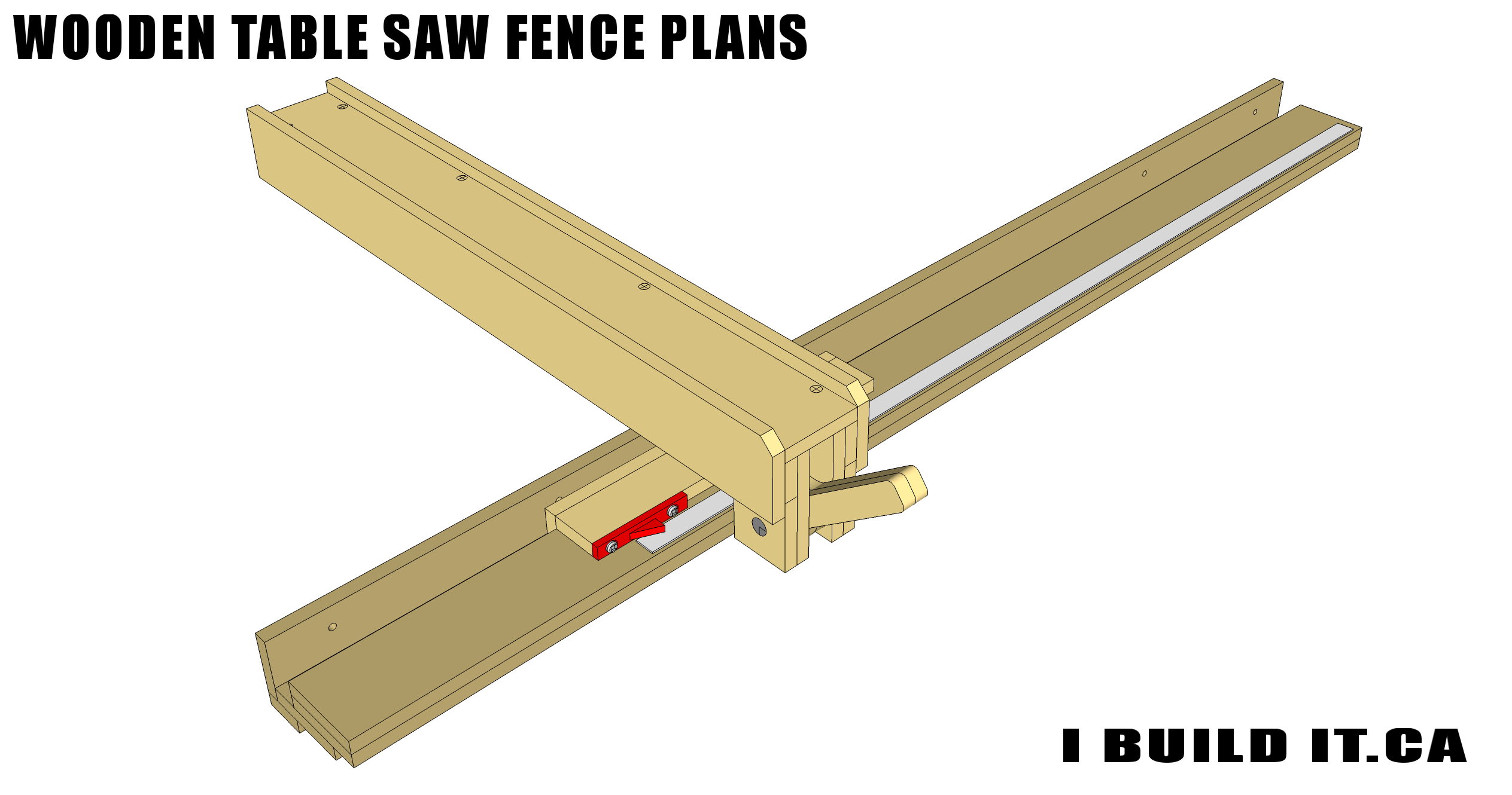 Build this Wooden Table Saw Fence from these easy to follow plans
