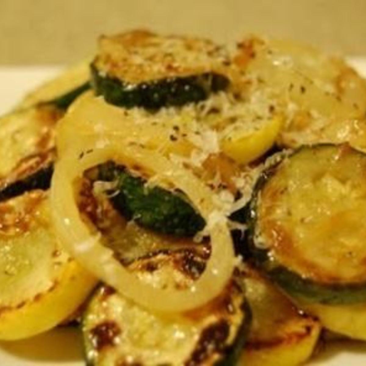 Sautéed parmesan zucchini
