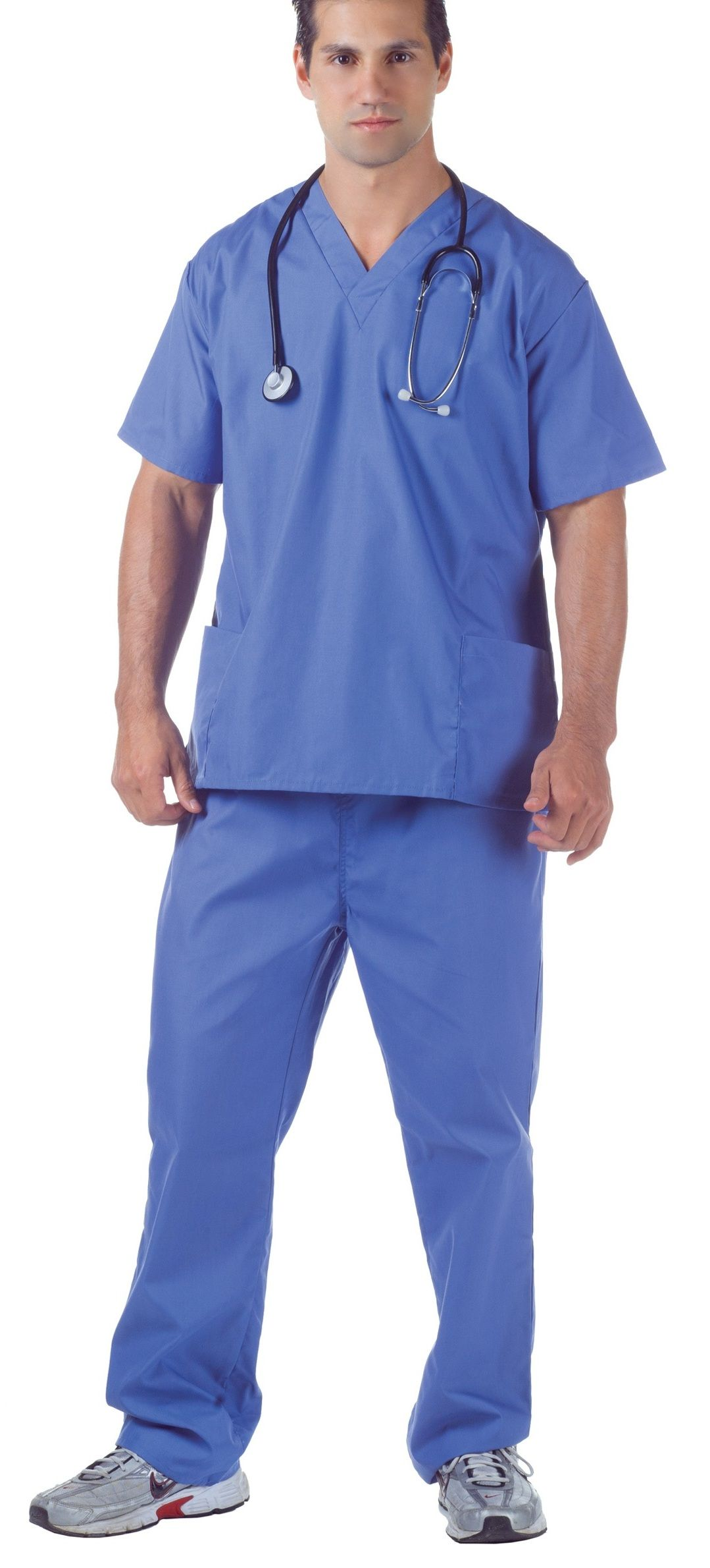 4a5d07d40c5ae Plus size costumes for men. Buy Blue Doctors scrub suit with top and bottom  Online - B2BMonk