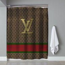 Louis Vuitton Light Chocolate Shower Curtain