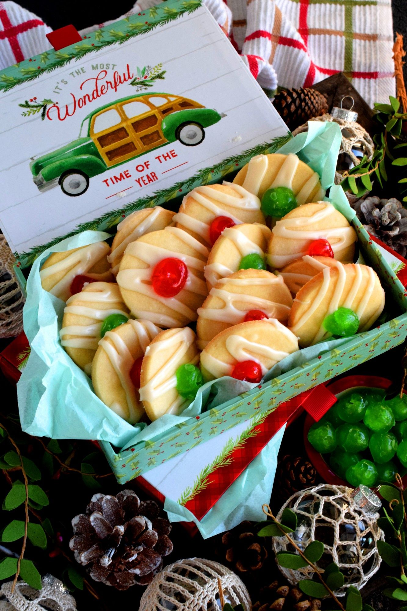 Old Fashioned Christmas Cherry Cookies Lord Byron S Kitchen