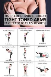 Tone and Tighten Your Arms Dumbbell Progressive Circuit to Get CRAZY Results   abs and core workouts