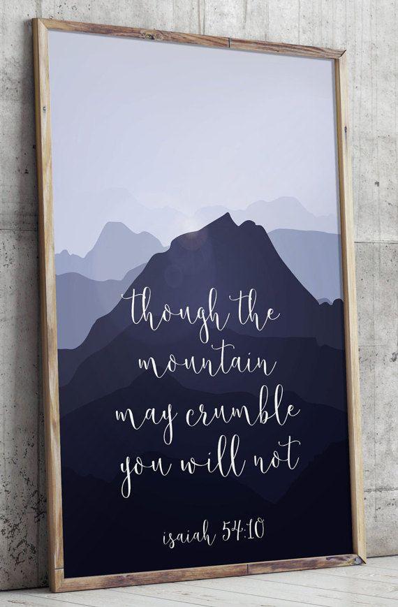 Printable verses, Isaiah 5410, Scripture Art print