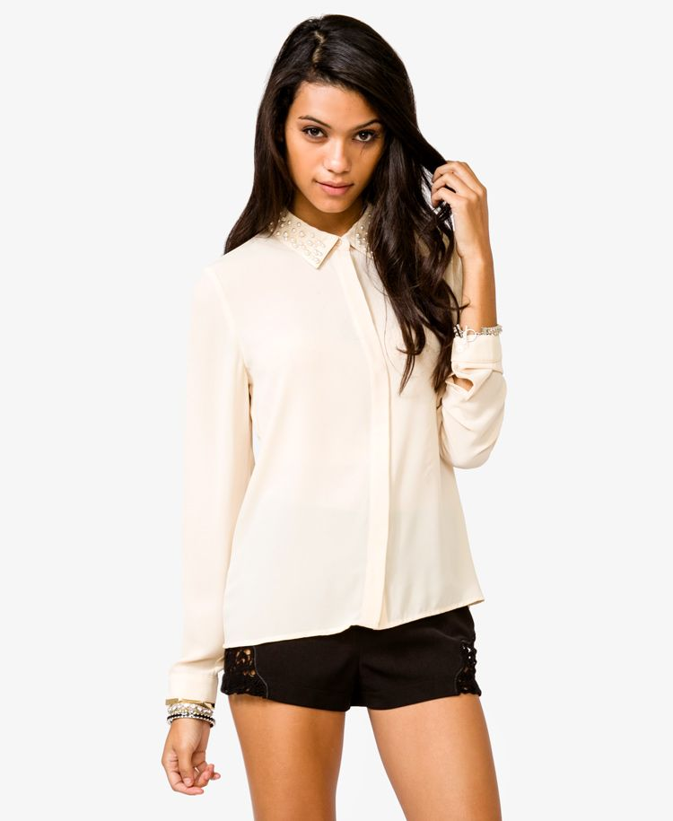 $22.80 Semi-Sheer Pearlescent Shirt