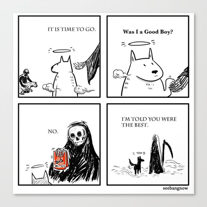 Death and the Dog Canvas Print That is so sad