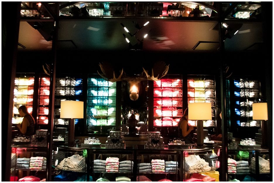 Interior Apercrombie and Fitch shop Amsterdam