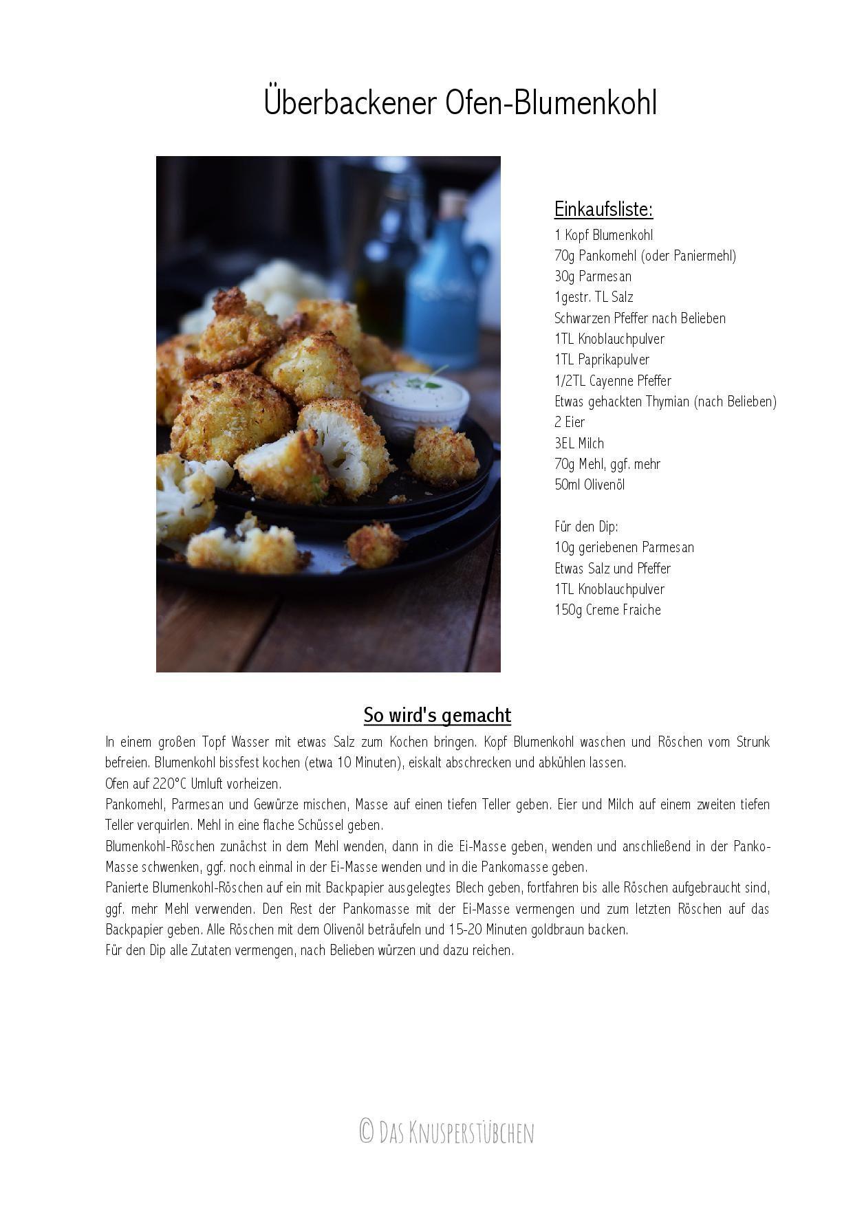 Überbackene Blumenkohl-Wings: Vegetarischer Snack ⋆ Knusperstübchen