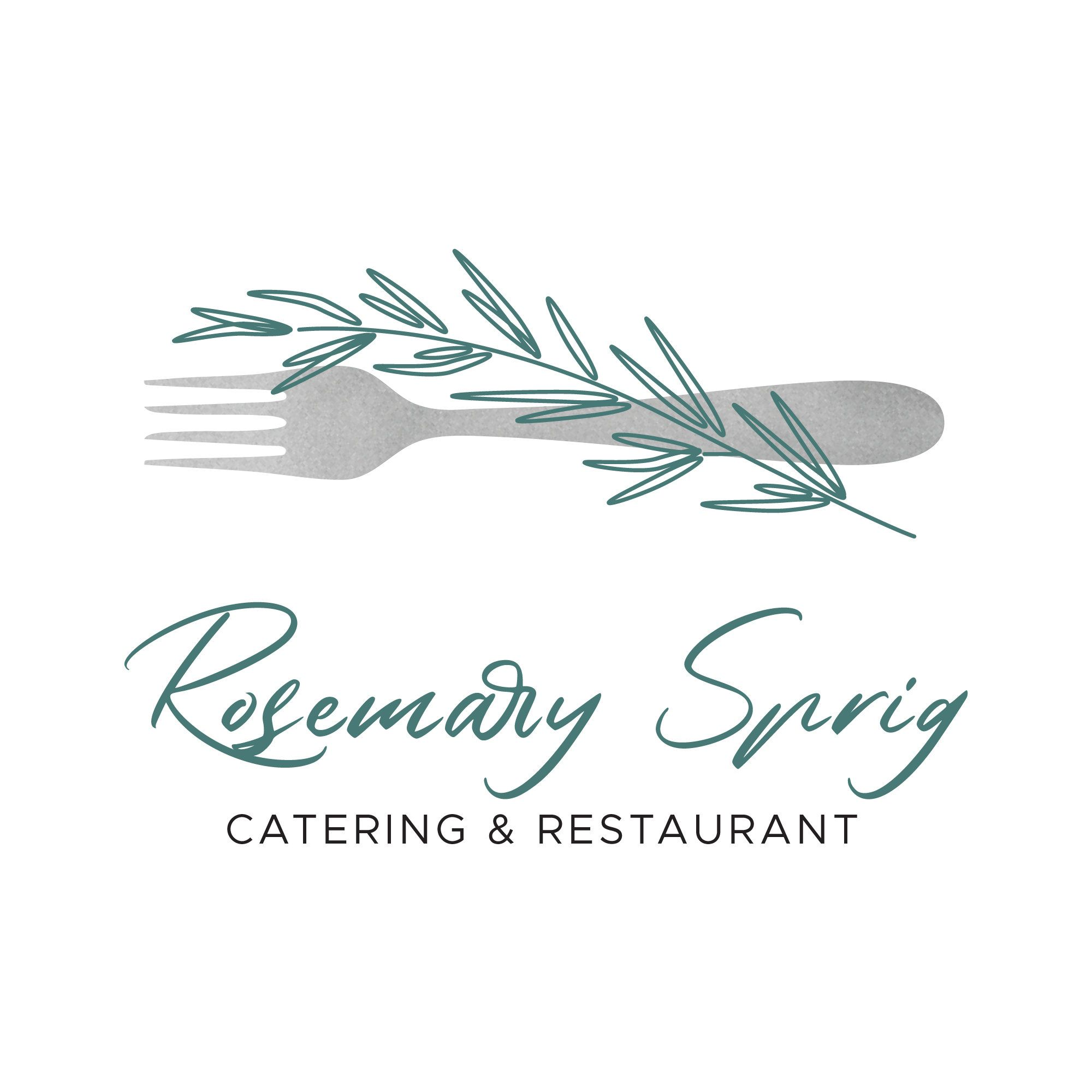 Rosemary Sprig Catering Logo Logo Design Template Instant Etsy In 2021 Catering Logo Logo Diy Cafe Logo Design