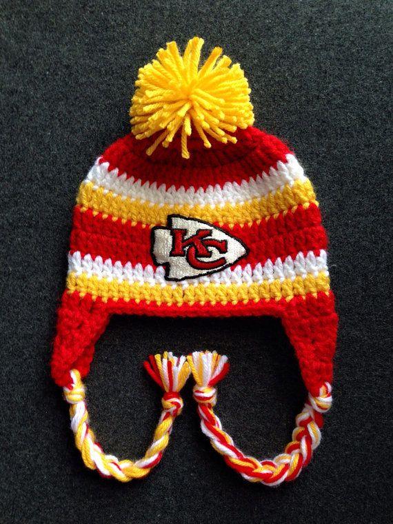 f366c1c60104a Crochet Kansas City Chiefs Hat Sizes Newborn by BowBabiesBoutique ...