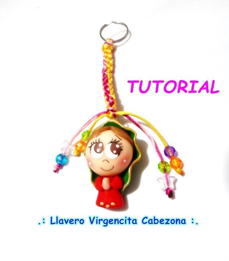 Tutorial Virgencita cabezona con llavero PARTE 1 / Cold porcelain Porcel...
