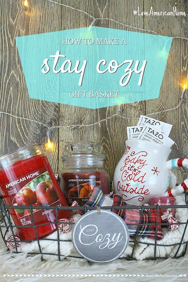 Family Christmas Gifts.Stay Cozy Gift Basket Inside The Fox Den Funtastic