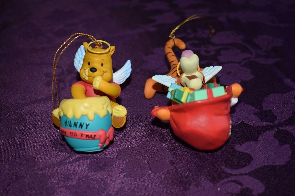Lot Of 2 Vintage Disney Christmas Ornament Winnie The Pooh Tigger Grolier Box Disney Disney Christmas Ornaments Sketchbook Ornaments Disney Winnie The Pooh