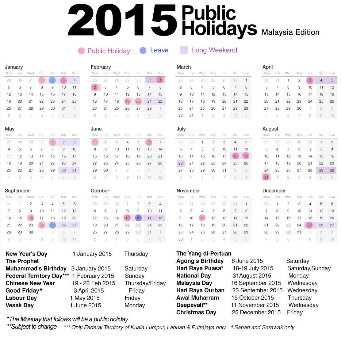 List of government holidays 2015 | MISCELLANEOUS | Pinterest ...