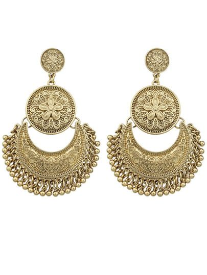 Shop Gold Plated Big Chandelier Earrings online. SheIn offers Gold ...