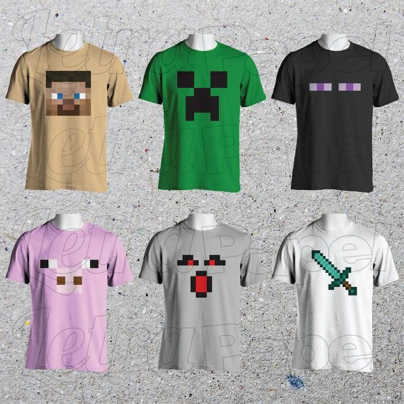 Instant Download Minecraft Shirt Ironons By Letrapapel