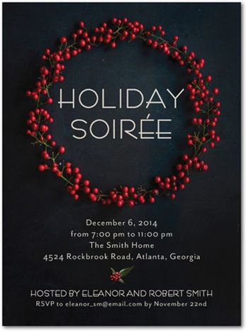 12 Festive Options For Company Holiday Cards And Party Invitations Christmas Cocktail Party Holiday Invitations Company Holiday Cards