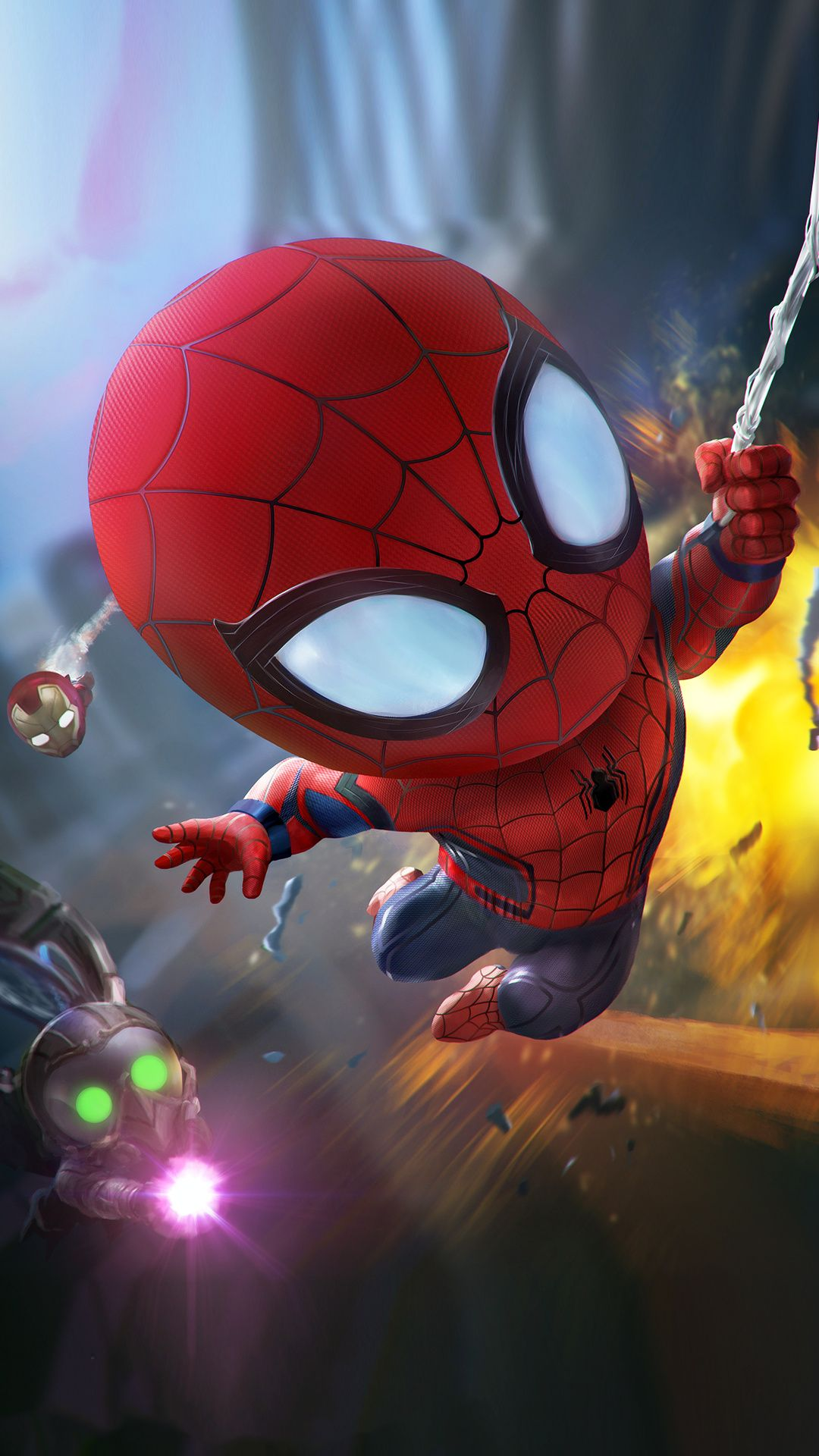 Baby Spider Man Mobile Hd Wallpaper Superhero Wallpaper Avengers Wallpaper Deadpool Wallpaper
